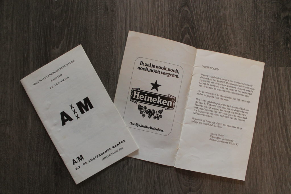 programmaboekje NK carrousel 1977